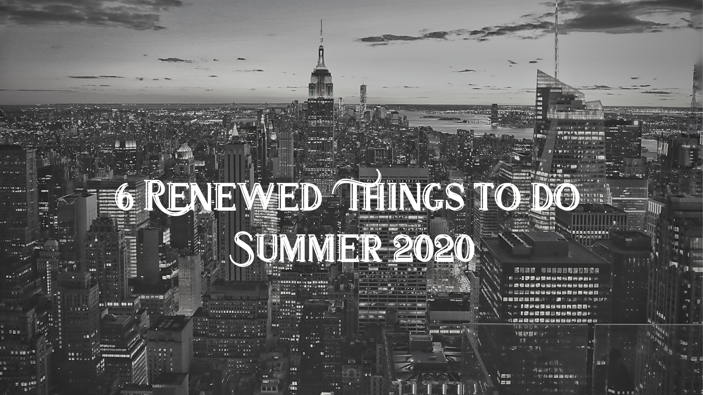summer 2020 in NYC