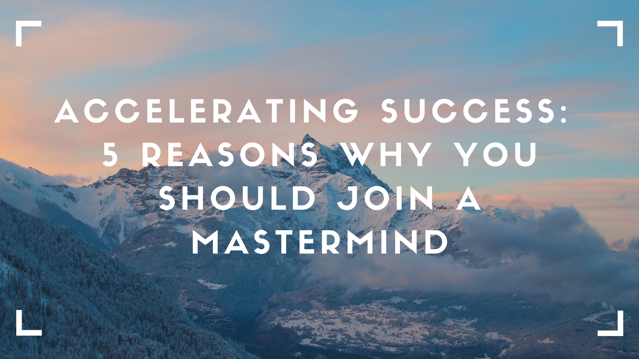 Not only is joining a mastermind is beneficial both professionally and personally, but it also can help you achieve your goals and overcome barriers in your life.